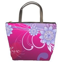Love Flowers Bucket Bags