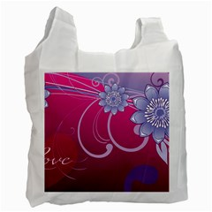 Love Flowers Recycle Bag (Two Side)