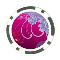 Love Flowers Poker Chip Card Guard (10 pack)