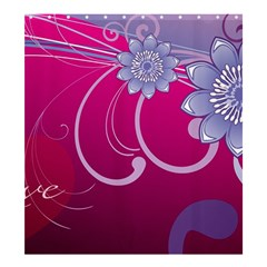 Love Flowers Shower Curtain 66  x 72  (Large)