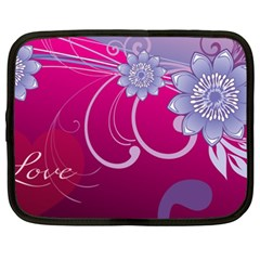 Love Flowers Netbook Case (XXL)