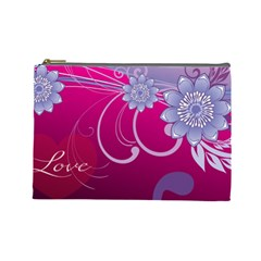 Love Flowers Cosmetic Bag (Large)
