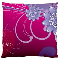 Love Flowers Large Cushion Case (one Side)