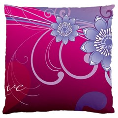 Love Flowers Standard Flano Cushion Case (Two Sides)