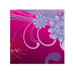 Love Flowers Small Satin Scarf (square)