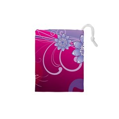 Love Flowers Drawstring Pouches (xs)