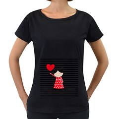 Valentines day girl 2 Women s Loose-Fit T-Shirt (Black)