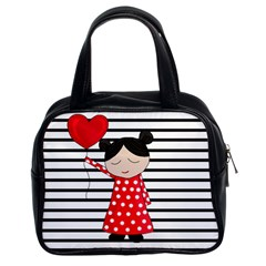 Valentines day girl 2 Classic Handbags (2 Sides)