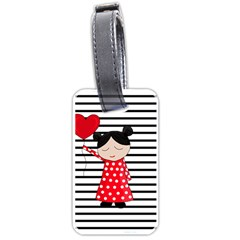 Valentines day girl 2 Luggage Tags (One Side)