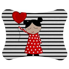 Valentines day girl 2 Jigsaw Puzzle Photo Stand (Bow)