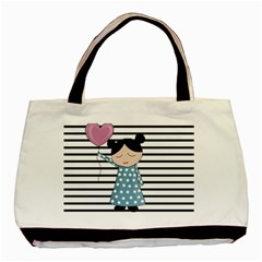 Valentines Day Design Basic Tote Bag (two Sides)