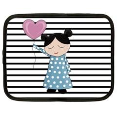 Valentines day design Netbook Case (XXL)