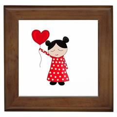 Girl in love Framed Tiles
