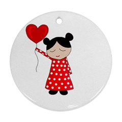 Girl in love Ornament (Round)