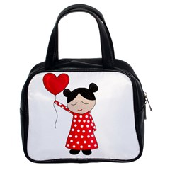 Girl in love Classic Handbags (2 Sides)