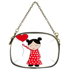 Girl in love Chain Purses (Two Sides)