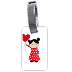 Girl in love Luggage Tags (One Side)
