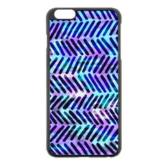 Blue Tribal Chevrons  Apple iPhone 6 Plus/6S Plus Black Enamel Case