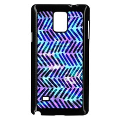 Blue Tribal Chevrons  Samsung Galaxy Note 4 Case (Black)