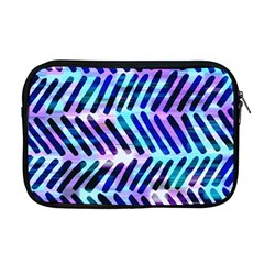 Blue Tribal Chevrons  Apple Macbook Pro 17  Zipper Case