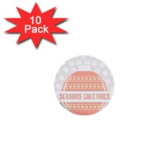 Merry Christmas 1  Mini Buttons (10 pack)