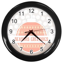 Merry Christmas Wall Clocks (Black)