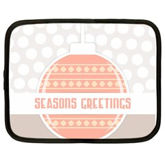 Merry Christmas Netbook Case (Large)