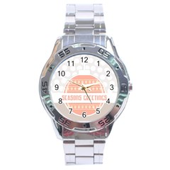 Merry Christmas Stainless Steel Analogue Watch