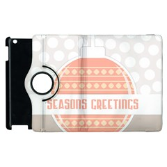 Merry Christmas Apple Ipad 2 Flip 360 Case