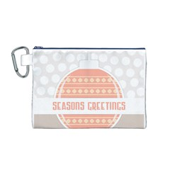 Merry Christmas Canvas Cosmetic Bag (M)