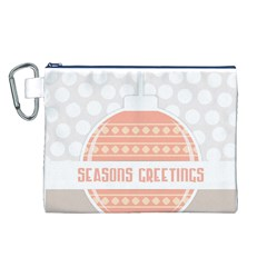 Merry Christmas Canvas Cosmetic Bag (l)