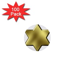 Sheriff Badge Clip Art 1  Mini Buttons (100 pack)