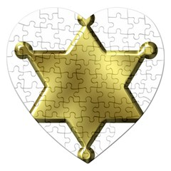 Sheriff Badge Clip Art Jigsaw Puzzle (Heart)