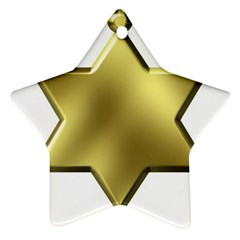 Sheriff Badge Clip Art Star Ornament (Two Sides)