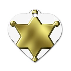 Sheriff Badge Clip Art Dog Tag Heart (One Side)