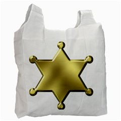 Sheriff Badge Clip Art Recycle Bag (One Side)