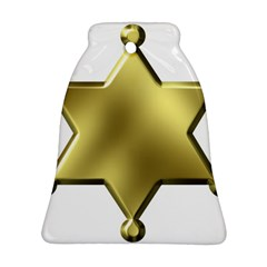 Sheriff Badge Clip Art Bell Ornament (Two Sides)