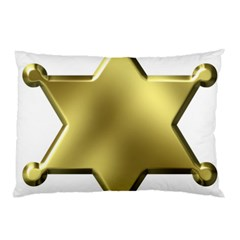 Sheriff Badge Clip Art Pillow Case (Two Sides)