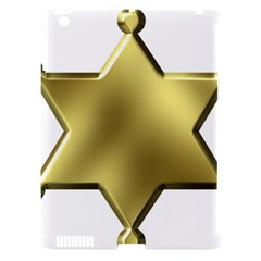 Sheriff Badge Clip Art Apple Ipad 3/4 Hardshell Case (compatible With Smart Cover)