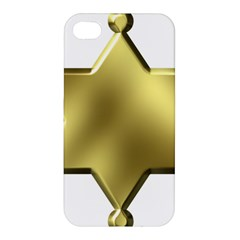 Sheriff Badge Clip Art Apple Iphone 4/4s Premium Hardshell Case