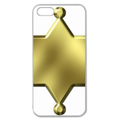 Sheriff Badge Clip Art Apple Seamless iPhone 5 Case (Clear)