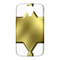 Sheriff Badge Clip Art Samsung Galaxy S4 Classic Hardshell Case (PC+Silicone)