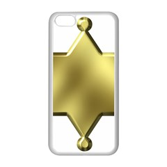 Sheriff Badge Clip Art Apple iPhone 5C Seamless Case (White)