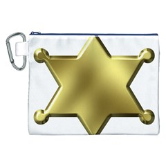 Sheriff Badge Clip Art Canvas Cosmetic Bag (XXL)