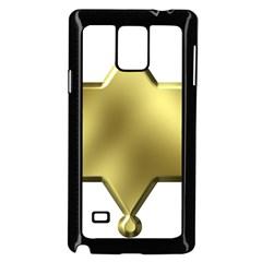 Sheriff Badge Clip Art Samsung Galaxy Note 4 Case (black)