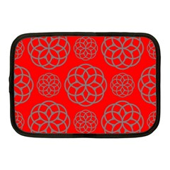 Geometric Circles Seamless Pattern Netbook Case (Medium)