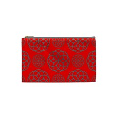 Geometric Circles Seamless Pattern Cosmetic Bag (small)