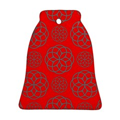 Geometric Circles Seamless Pattern Bell Ornament (Two Sides)