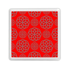 Geometric Circles Seamless Pattern Memory Card Reader (Square)