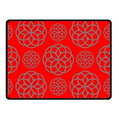 Geometric Circles Seamless Pattern Double Sided Fleece Blanket (Small)